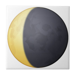 Croissant de lune de affaiblissement - Emoji Carreau