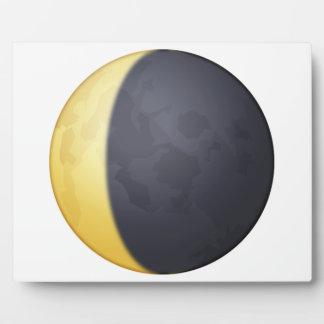 Croissant de lune de affaiblissement - Emoji Plaque Photo