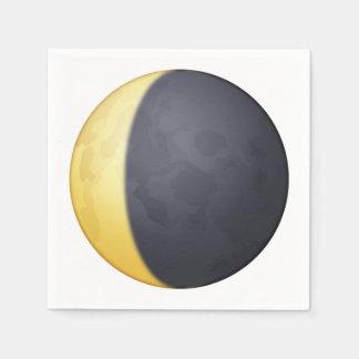 Croissant de lune de affaiblissement - Emoji Serviette En Papier