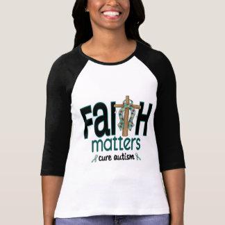 Croix 1 de sujets de foi d'autisme t-shirt