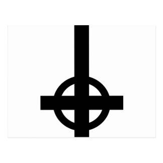 Croix à l'envers carte postale