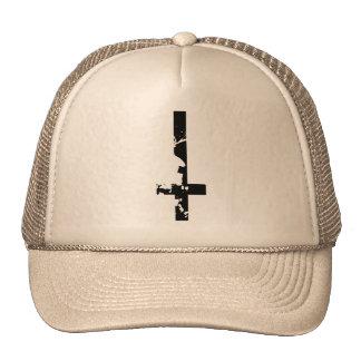 Croix à l'envers casquettes de camionneur