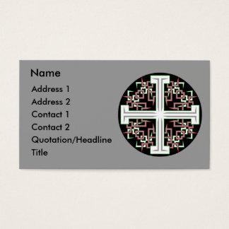 Croix barbelée cartes de visite