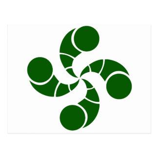 Croix basque destructuré verte cartes postales