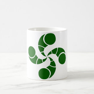 Croix basque destructuré verte mug