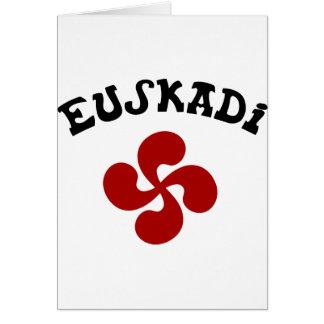 Croix Basque Euskadi Rouge Carte De Vœux