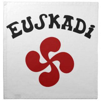 Croix Basque Euskadi Rouge Serviettes En Tissus
