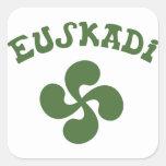 Croix Basque Euskadi Sticker Carré