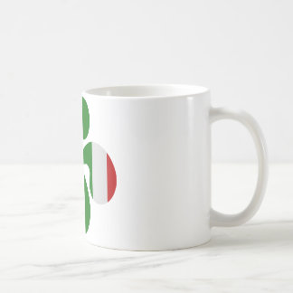 Croix Basque Multicouleurs Mug Blanc