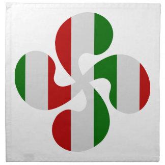 Croix Basque Multicouleurs Serviettes De Table