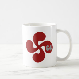 Croix basque rouge 64 Lauburu Mug Blanc