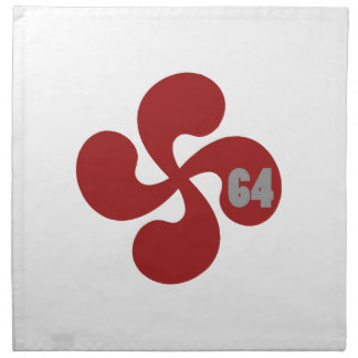 Croix basque rouge 64 Lauburu Serviettes De Table