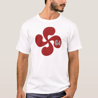 Croix basque rouge 64 Lauburu T-shirt