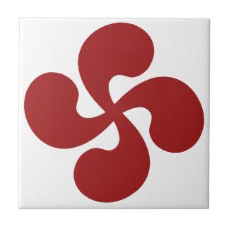 Croix Basque Rouge Lauburu Petit Carreau Carré