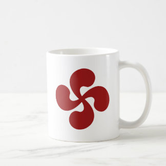 Croix Basque Rouge Lauburu Mug Blanc