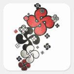croix Basque Sticker Carré