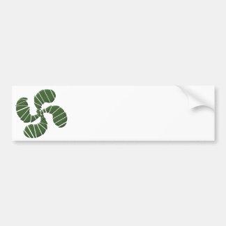 Croix Basque Verte Autocollant Pour Voiture