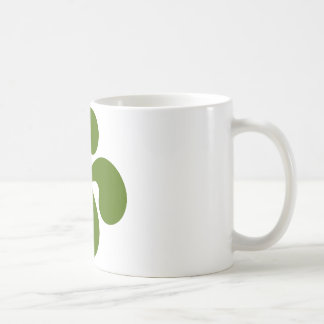 Croix Basque Verte Mug Blanc