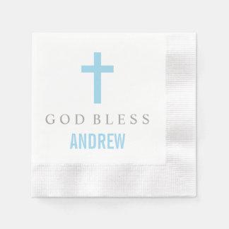 Croix bleue personnalisée de la serviette | de serviettes jetables