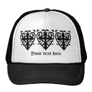 Croix celtique de cimetière gothique au coeur casquette