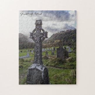 Croix celtique de Glendalough Irlande Puzzle