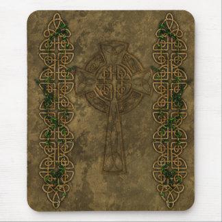 Croix celtique et noeuds celtiques tapis de souris