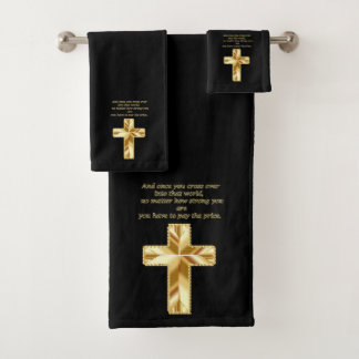 Croix chrétienne de crucifix d'or avec