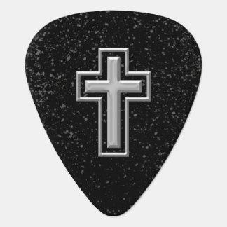 Croix chrétienne de ton argenté sur l'étincelle no onglet de guitare