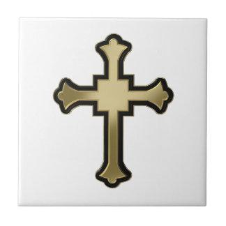 Croix chrétienne petit carreau carré