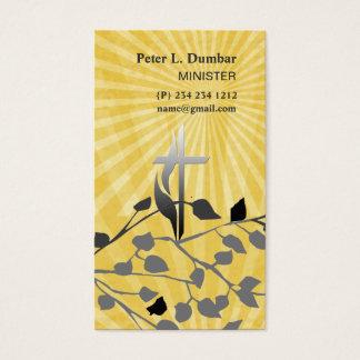 Croix chrétienne spirituelle de lever de soleil cartes de visite