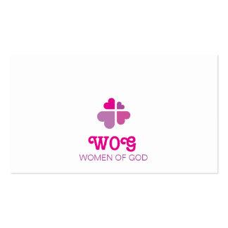 Croix de coeurs carte de visite standard