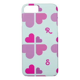Croix de coeurs coque iPhone 7