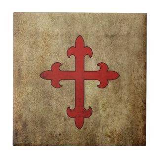 Croix de croisé carreau