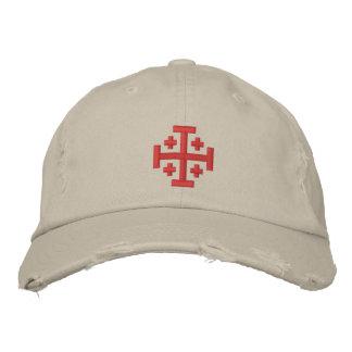Croix de croisé - casquette de baseball affligée