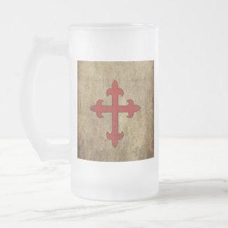 Croix de croisé chope givrée