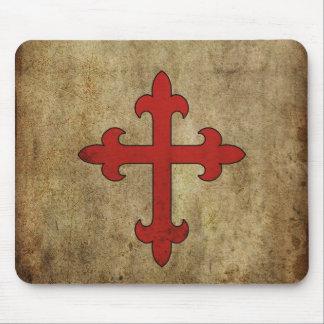 Croix de croisé tapis de souris