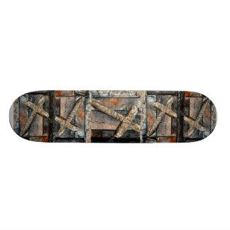 Croix de force plateaux de skateboards customisés