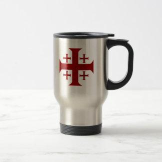 Croix de Jérusalem, affligée Mug De Voyage