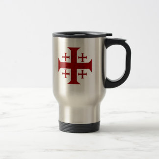 Croix de Jérusalem, affligée Mug De Voyage En Acier Inoxydable