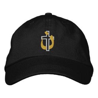 Croix de religion et symbole chrétiens de casquette brodée