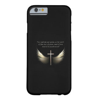 Croix de Saint-Esprit et de chrétien avec le vers Coque iPhone 6 Slim