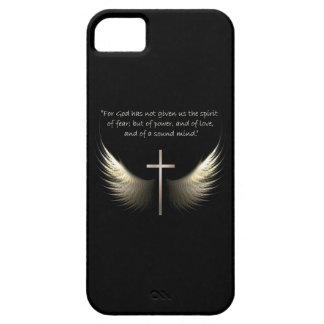 Croix de Saint-Esprit et de chrétien avec le vers  Coque iPhone 5