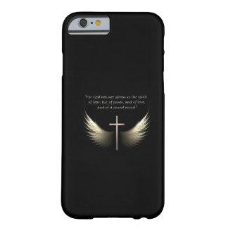 Croix de Saint-Esprit et de chrétien avec le vers Coque iPhone 6 Barely There
