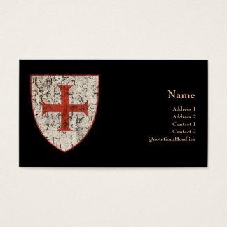 Croix de Templar, affligée Cartes De Visite
