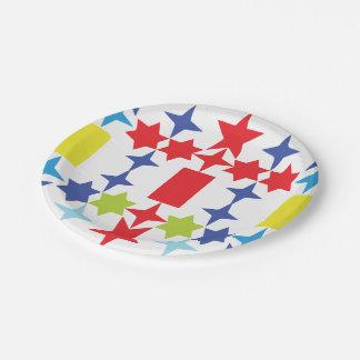 Croix d'étoile assiettes en papier