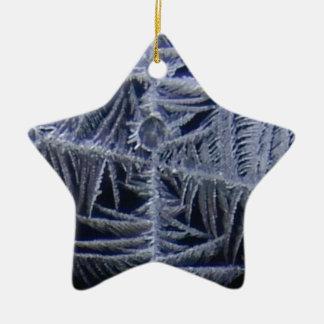 croix d'étoile de glace ornement étoile en céramique