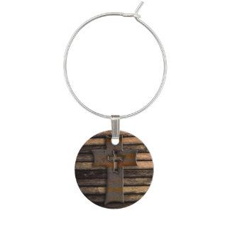Croix en bois naturelle de Brown Marque-verre