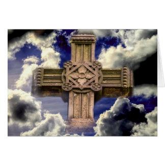 Croix en ciel carte de vœux