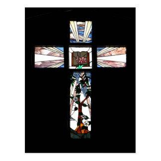 Croix en verre souillé - carte postale