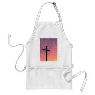 croix et coucher du soleil tablier